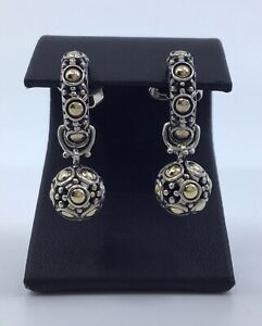 John Hardy Sterling Silver And 18k Yellow Gold Jaisalmer Dot Earrings