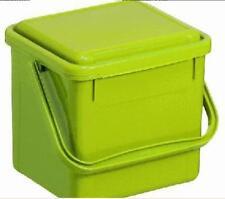 Rotho Komposteimer Bio, Plastik,  4,5 l, hellgrün, geruchsdichter Deckel