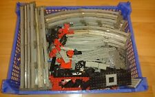 Lego 12 volt (12V) train track, straights, curves, plates, electric rails, parts