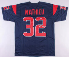 Tyrann Mathieu Signed Houston Texans Color Rush Jersey (Beckett COA)Honey  Badger 13b51d1fa
