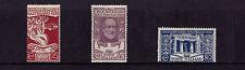 Italy - 1922 Mazzini Set - Mtd Mint - SG 126-28
