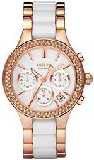 Nuevo NY8183 Oro Rosa cámaras DKNY Señoras Reloj De Cerámica - 2 Año De Garantía
