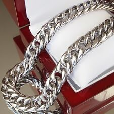 Heavy Stainless Steel Necklace Heavyweight Men Chain Massive Chunky Curb 3