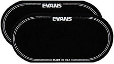 """Evans -EQPB2- Bass Drum """"EQ Patch"""" Black Nylon -DOUBLE Patch -Pack of (2) -NEW"""