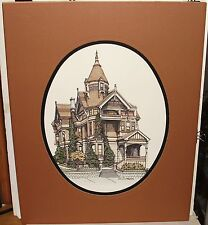 """DEBBIE PATRICK """"HAAS LILIENTHAL HOUSE"""" LIMITED SIGNED WATERCOLOR LITHOGRAPH"""