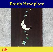 Free Shipping, Banjo Part - Rosewood Headplate w/MOP Art Inlay (58)