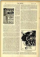 1899 The London Letter New Journal Billiard Room 32nd Pioneers