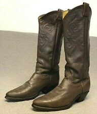 Western Cowboy Leather Casual Dress Dancing boots women's 7M