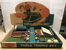 Vintage 1950's Sportcraft Official Table Tennis Set in Original Box FREE S/H