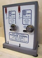 Old Postage Stamp Machine Co Brooklyn NY 10c 15c sanitary stamp vending machine