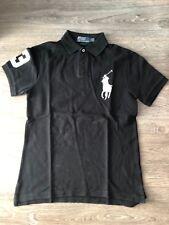 Original Herren Polo-Shirt Ralph Lauren , Schwarz , Slim Fit , Gr. S ,