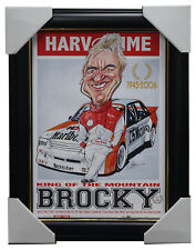 Peter Brock Holden Bathurst Champion King of the Mountain Harv Time Print Framed