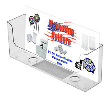 """Lot of 6 Clear Acrylic Counter Top Wall Mount Holder for 8.5"""" w Literature"""