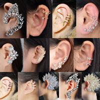 1pc Damen Ohrstecker Ohrklemme Punk Ohr Clips Ear Cuff Ohrringe Ohrschmuck