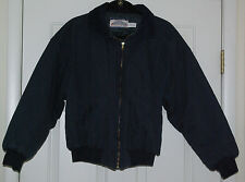 Vtg 90'S Mens Medium Dunbrooke Workwear Zip Front Blue Bomber Jacket Coat Usa