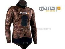 GIACCA MUTA SUB NEOPRENE 7mm MARES INSTINCT BROWN SIZE 5 JACKET WETSUIT OPENCELL