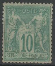 "FRANCE STAMP TIMBRE N° 65 "" SAGE 10c VERT TYPE I 1876 "" NEUF x TB A VOIR   N456"