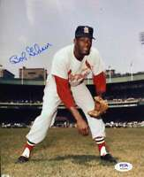 Bob Gibson PSA DNA Coa Hand Signed 8x10 Cardinals Photo Autograph
