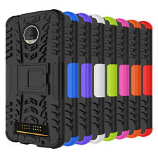 Shockproof Hybrid Rubber Hard Phone Case Cover For Motorola Moto Z Play Droid