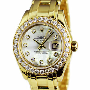 ROLEX - 18kt Gold Masterpiece PearlMaster MOP Diamond 80298 - SANT BLANC
