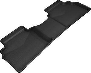 All Weather Floor Mat Set For 19-20 Kia Forte Black Rear Kagu
