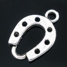 20 x Tibetan Silver Horse Shoe Pendant Charms Horseshoe 18mm