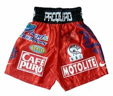 MANNY PACQUIAO vs. MIGUEL COTTO : Dual Signed Replica Fight Night Trunks Shorts