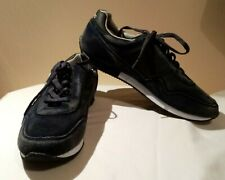 Blend Men's Retro Style/Look  Navy Blue Suede Trainers UK 8 Worn Once