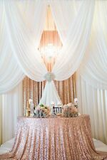 COMPLETE CHIFFON SHEER AND SEQUIN DRAPES PANELS BACKDROP CURTAIN WEDDING PARTY