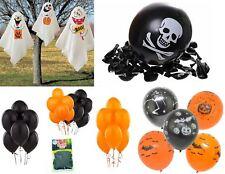Halloween Balloons Spooky Decoration Black Orange Cobweb Skull Pumpkin Pirate