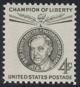 Scott 1136- Ernest Reuter, Mayor of Berlin, Germany- MNH 4c 1959- unused mint