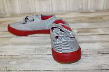 **Morgan & Milo Stripe (MB2248CV) Sneakers-Youth Boys 12,Navy/Wht/Red