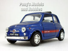 Classic Fiat 500 1/24 Scale Diecast Model by Kinsmart - DARK BLUE