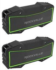 (2) Rockville ROCK EVERYWHERE Portable Bluetooth Speakers Wireless Stereo Sound