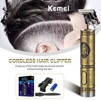 Kemei Electric Pro T-Outliner Cordless Skeleton Hair Clipper Trimmer Set