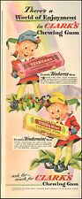 1942 Vintage ad for Clark's Chewing Gum`Art Elves Teaberry Pittsburgh (042416)