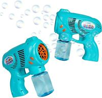 KreativeKraft Pack of 2 Bubble Machine with Bubble Solution For Kids Girls Boys