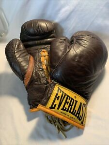 Vintage Everlasting Boxing Gloves 10oz. Brown/ Yellow