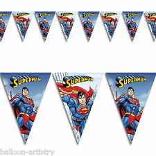 DC COMICS METROPOLIS SUPERMAN Children's Party FLAG BANNER Bunting Decorazione