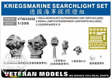 Veteran Models 1/350 Kriegsmarine Searchlight Set (x6pcs)