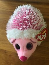 "Ty Beanie Babies Mrs. Prickly Pink Hedgehog 6"" Stuffed Animal New with Tags 2015"