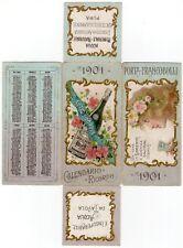 Porta francobolli con calendario + pubblicità Acqua minerale Sangemini, 1901