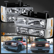 94-98 GMC C10 Sierra Suburban Chrome Headlights Bumper Corner Signal Lights 8PC