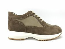 E17-DP1 SCARPE DONNA 40 SNEAKERS DMP BEIGE INTERACTIVE 100% PELLE MADE IN ITALY