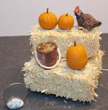 Dollhouse Miniature Farm Chicken Hay Bales Pumpkins H 1:12 H147 Dollys Gallery