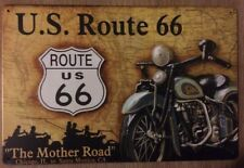 ROUTE 66.  Rustic Look Vintage Retro Tin Signs Man Cave, Shed & Bar Sign