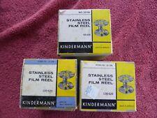 3 KINDERMANN STAINLESS DEVELOPING REELs 120/620 FILM 23 198