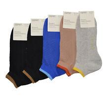 Esprit 5 x Sneaker Socken Damen Sonderpreis Größe 37 - 38 Söckchen Socke  Set 13