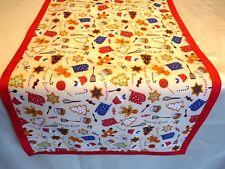 Tischläufer Tischdecke Tischset 34x71 natur rot grün blau braun weiß Weihnachten