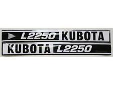 New Kubota L2250 Hood Decal Set